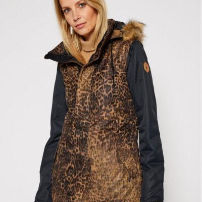 Chaqueta invierno VOLCOM Mujer Urbana con capucha pelo AISLADA FAWN JACKET (bloc) Ref. H0452011 negra leopardo