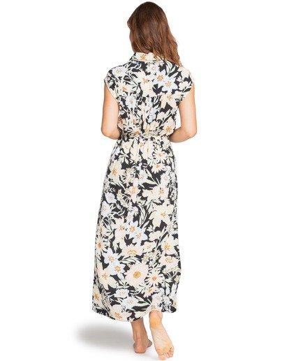 Vestido largo BILLABONG con botones para mujer Little Flirt BLACK MULTI (6651) Ref. W3DR03BIP1 flores negro Nueva colección 2021