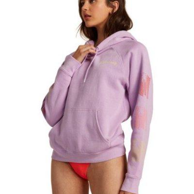 Sudadera BILLABONG con capucha para Mujer Catching Waves LIT UP LILAC (4654) Ref. U3JP31/BIF0 lila Nueva colección