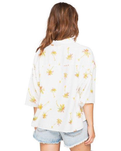 Camisa BILLABONG manga corta para mujer Isa Island SALT CRYSTAL (4194) Ref. flores blanca Nueva colección 2021