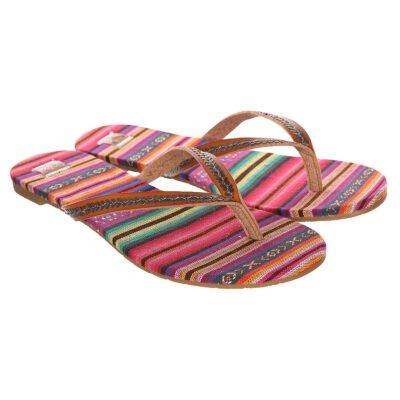 Sandalias ROXY Chanclas téxtil cruzadas playa Mujer Jules TAN (tan) Ref. ARJL100929 rosa palo
