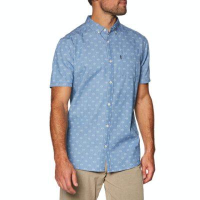Camisa de Manga Corta Hombre RIP CURL Rhombees Short Sleeve Blue Ref. CSHFX4 azul tejana rombos blancos
