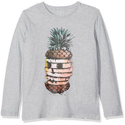 camiseta de manga larga Quiksilver niños 'Classic Pineapp ref EQBZT03574 gris claro piña
