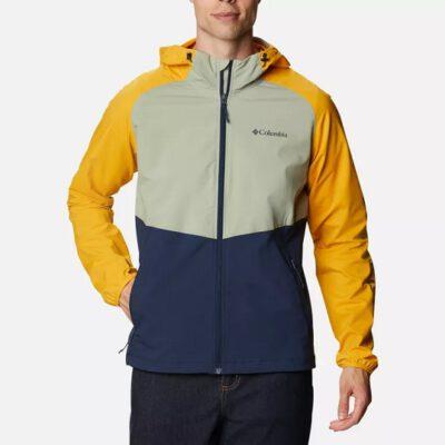 Chaqueta COLUMBIA con capucha y aislamiento para hombre Panther Creek™ Collegiate Navy, Safari, Bright Gold Ref. 1840711466 beig/amarillo/marino