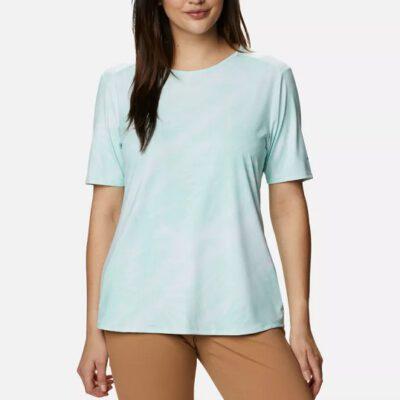 Camiseta COLUMBIA manga corta para mujer Chill River™ Mint Cay Print Sunburst Ref. 1885693368 verde agua