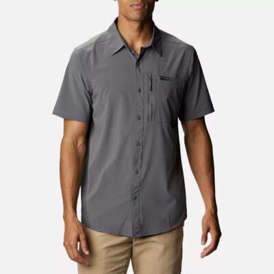 Camisa COLUMBIA manga corta para hombre Triple Canyon™ II City Grey Ref. 1930382023 gris oscura lisa