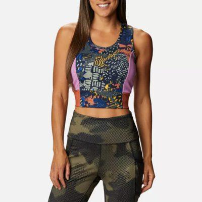 Camiseta top corto COLUMBIA tirantes deporte Windgates™ II cropped Dark Nocturnal, CGC Print Ref. 1931861472 multicolor