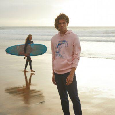 Sudadera O'NEILL hombre con capucha ORIGINAL SURFER HOODIE Crystal rose Ref.1A1414 surfera rosa palo