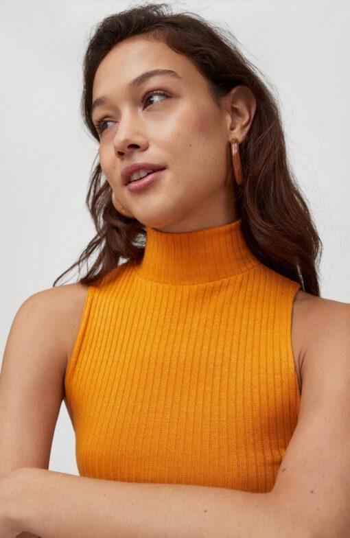 Camiseta O'NEILL Mujer cuello alto tirantes TEASER TANKTOP Golden Oak Ref. 1A6900 roble dorado mostaza