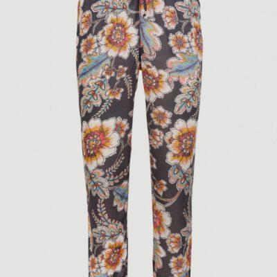 Pantalón fluido O'NEILL práctico y cómodo para Mujer MIX AND MATCH BEACH PANTS Black/red Ref. 1A7734 negro/rojo flores