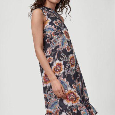 Vestido O'NEILL cuello alto y tirantes para mujer MIX AND MATCH MIDI DRESS Black whith red Ref. 1A8944 negro/rojo flores