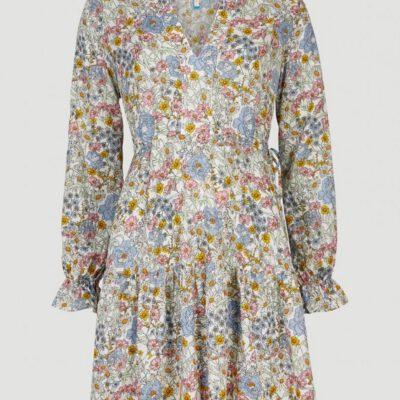 Vestido corto BILLABONG manga larga para mujer VACATIONER LONGSLEEVE MINI DRESS white with green Ref. 1A8966 flores Nueva colección 2021