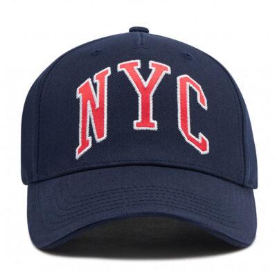 Gorra CHAMPION de béisbol de seis paneles ajustable NYC Navy Ref. 805303 azul marino