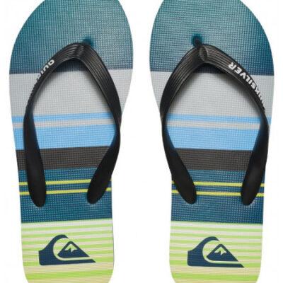 Sandalias QUIKSILVER Chanclas goma playa niño Molokai BLACK/GREEN/GREY (xkgs) Ref. AQBL100197 verde/azul