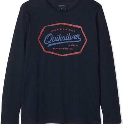 Camiseta QUIKSILVER manga larga niño Living On The Edge Navy (byj0) Ref. EQBZT03839 Azul marino logo pecho