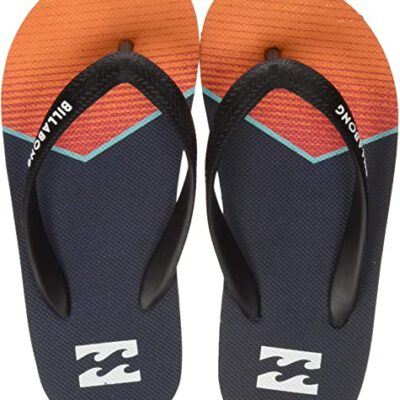 Sandalias BILLABONG Chanclas goma playa niño Tides Northpoint orange Ref. BIN2FF05 negra/naranja