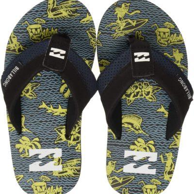 Sandalias BILLABONG Chanclas LONA playa niño Slappy mint yelow Ref. BIN2FF07 negra/amarilla aloha
