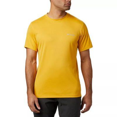 Camiseta COLUMBIA manga corta técnica deporte hombre Zero Rules™ Bright Gold Ref. 1533313790 amarillo mostaza