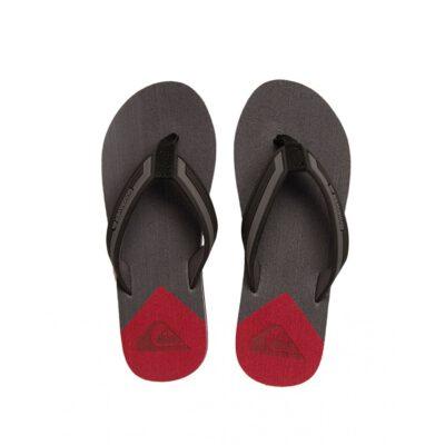 Sandalias QUIKSILVER Chanclas goma dedo playa Hombre MOLOKAI NEW WAV GREY/RED (XKRS) Ref. AQYL100413 roja/gris