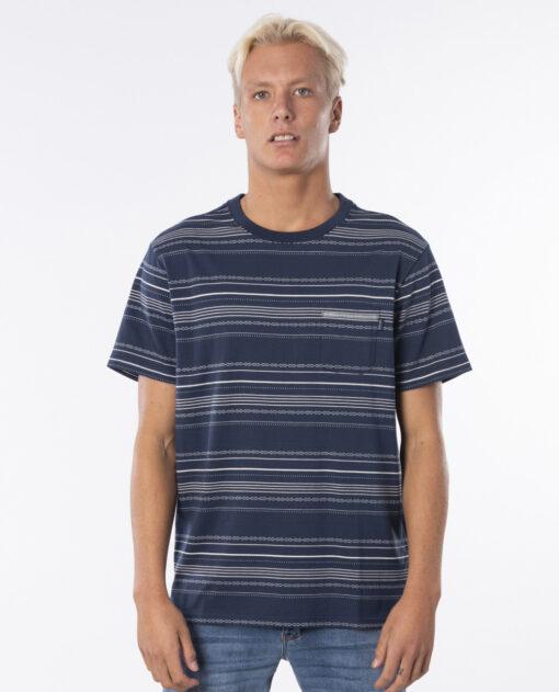 Camiseta RIP CURL hombre manga corta Searchers Jacquard Tee INDIGO Ref. CTEOT5 azul bolsillo pecho