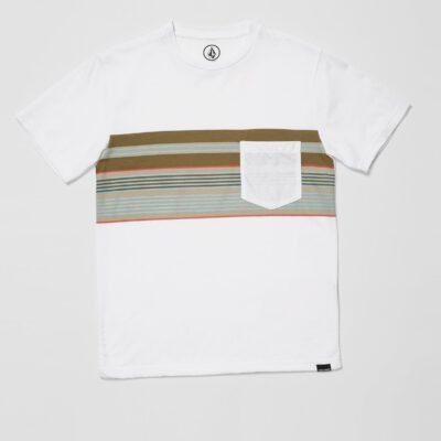 Camiseta VOLCOM manga corta LINE STACK - WHITE (NIÑOS) Ref. C5712112 blanca bolsillo pecho
