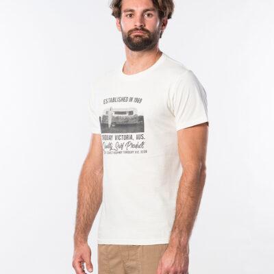 Camiseta RIP CURL hombre manga corta Tuc Tuc Short Sleeve Off White Ref. CTEOT5 blanca surfera