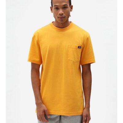 Nueva colección Camiseta DICKIES hombre Manga corta básica Porterdale con bolsillo pecho Yelow Ref. DK0A4TMO mostaza