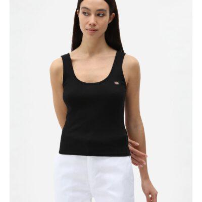 Nueva colección Camiseta corta top DICKIES mujer tirantes básica Mapleton BLACK Ref. DK0A4XB9 Negra