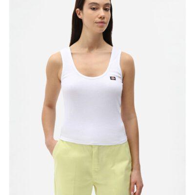 Nueva colección Camiseta corta top DICKIES mujer tirantes básica Mapleton WHITE Ref. DK0A4XB9 Blanca