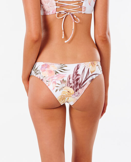 Braguita de bikini RIP CURL una pieza Mini Mujer Tallows Revo Good white Ref. GSIKW9 blanco con flores rosa palo