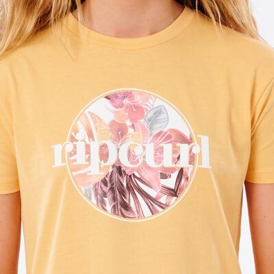 Camiseta RIP CURL niña manga corta surfera Tallows Girl Orange Ref. JTEAI9 naranja logo pecho