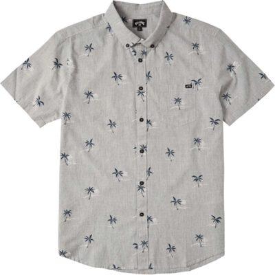Camisa BILLABONG de Manga Corta Hombre Sundays Mini Light grey Ref. W1SH20 gris palmeras minis