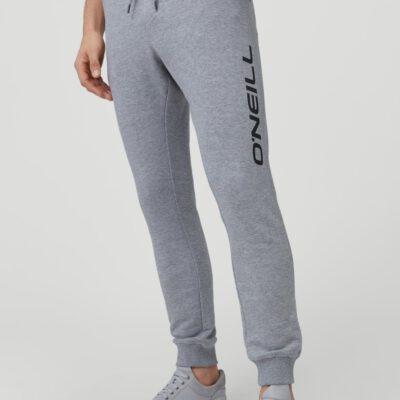 Pantalón chándal O'NEILL largo para hombre SWEATPANTS MEN Silver Melee Ref. N02701 gris claro logo pierna