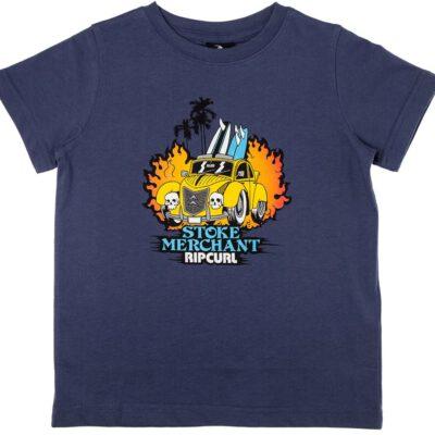 Camiseta RIP CURL manga corta niño surfera Arty SS Tee Groms blue indigo Ref. OTEAY4 azul divertida