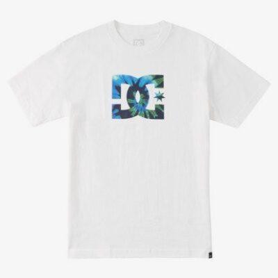 Camiseta DC Shoes hombre manga corta STAR TIE DYE White Ref. ADYZT04885 blanca logo pecho