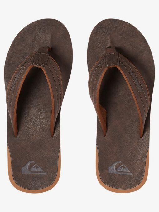 Sandalias QUIKSILVER Chanclas cuero sintético Hombre Carver Nubuck DEMITASSE - SOLID (ctk0) Ref. AQYL100623 marrón
