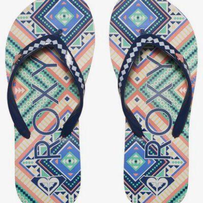 Sandalias ROXY Chanclas goma playa niña Pebbles Flip-Flops (OGB) Ref. ARGL100031 Étnica azul