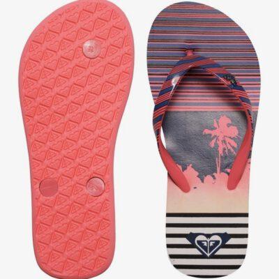 Sandalias ROXY Chanclas goma playa niña Pebbles Flip-Flops (PST) Ref. ARGL100031 Marino/fucsia tropical