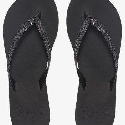 Sandalias ROXY Chanclas dedo goma playa niña/mujer Napili black (blk) Ref. ARJL100546 negra con brillos en tira