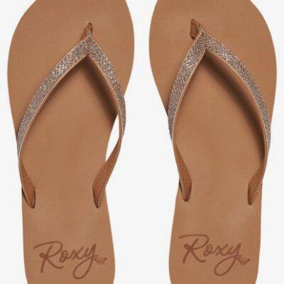 Sandalias ROXY Chanclas dedo goma playa niña/mujer Napili (tan) Ref. ARJL100546 camel con brillos en tira
