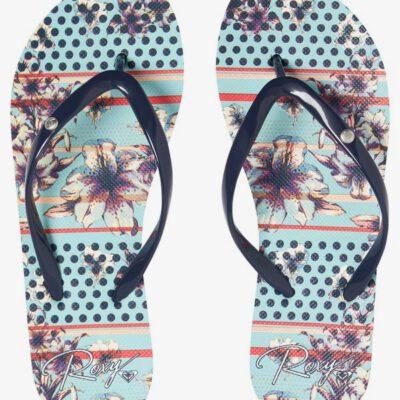 Sandalias ROXY Chanclas goma dedo playa Mujer Portofino LIGHT BLUE (lbl) Ref. ARJL100668 azul agua flores tropical