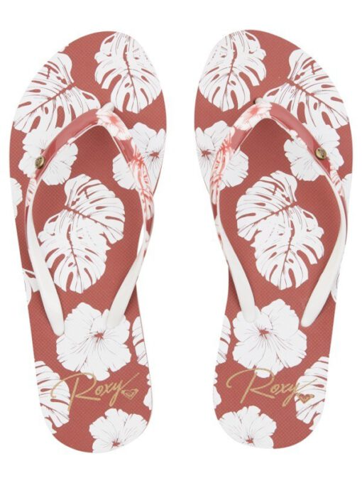 Sandalias ROXY Chanclas goma cruzadas playa Mujer Portofino GINGER (gng) Ref. ARJL100870 flores tropical