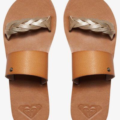 Sandalias ROXY Chanclas trenzada cuero sintético dedo Mujer Tess TAN (bronceado) Ref. ARJL200523 marrón claro