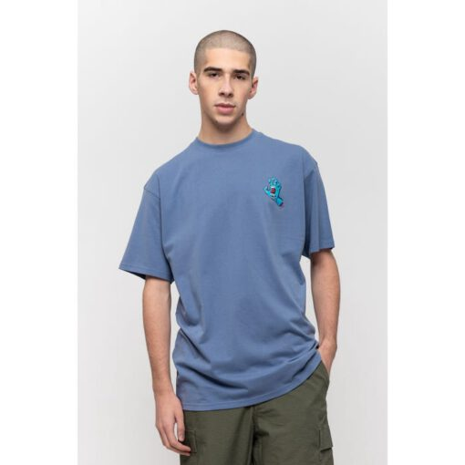 Camiseta SANTA CRUZ Chico manga corta Screaming Hand Chest T-Shirt Washed Navy Ref. SCA-TEE-5884 azul claro con logo pecho mano/puño