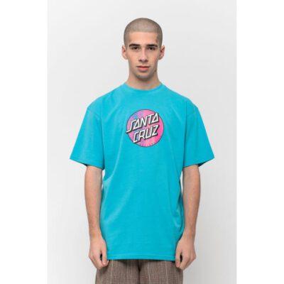 Camiseta SANTA CRUZ Chico manga corta Scales Dot T-Shirt Aqua Ref. SCA-TEE-5963 Azul aqua con logo pecho