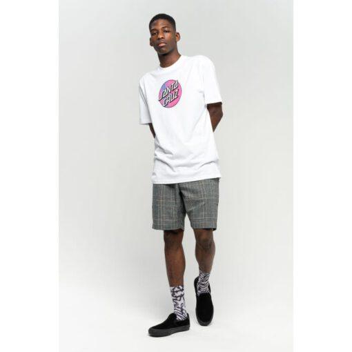 Camiseta SANTA CRUZ Chico manga corta Scales Dot T-Shirt White Ref. SCA-TEE-5963 Blanca con logo pecho