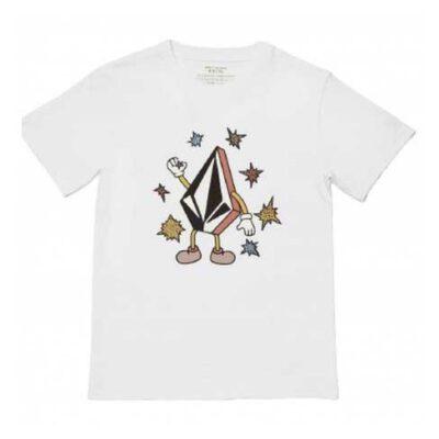 Camiseta VOLCOM manga corta niño surfera FIZZ STONE - WHITE Ref. C3512133 Blanca