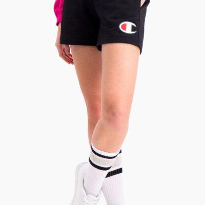 Pantalón corto CHAMPION mujer tirantes cintura racer DOUBLE WAISTBAND SHORTS Black Ref. 112648 negro