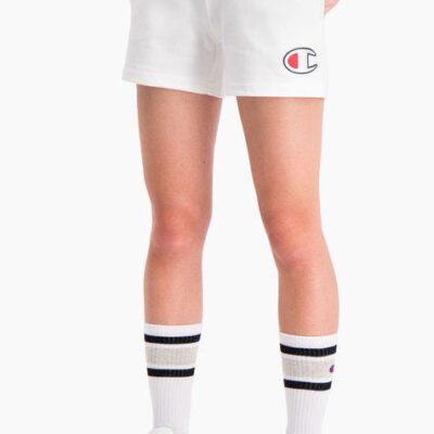 Pantalón corto CHAMPION mujer tirantes cintura racer DOUBLE WAISTBAND SHORTS White Ref. 112648 blanco