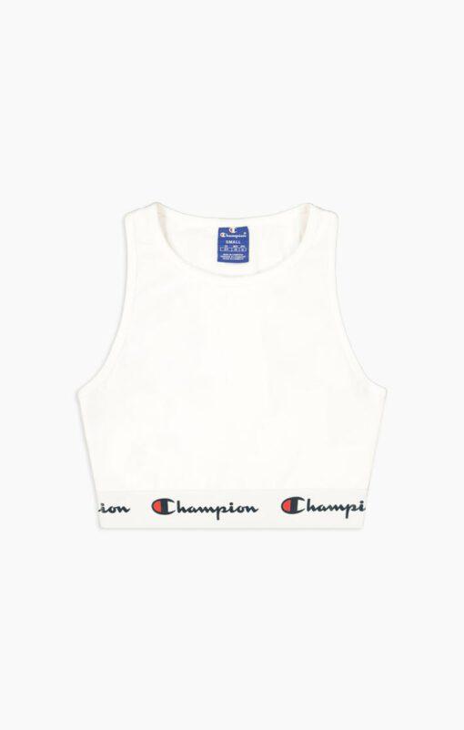 Top deportivo CHAMPION chica tirantes cintura racer SCRIPT LOGO White Ref. 112856 blanco